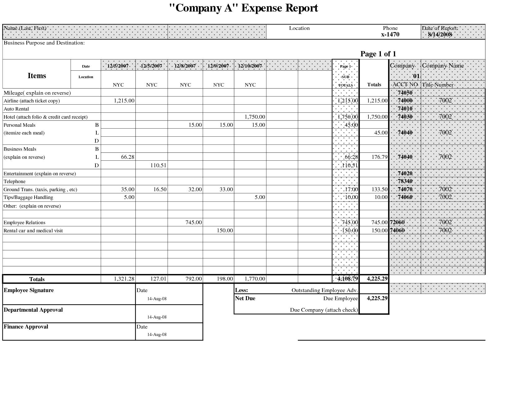 Sample Excel Spreadsheet Business Expenses and Sample Of Excel Spreadsheet Business Expenses