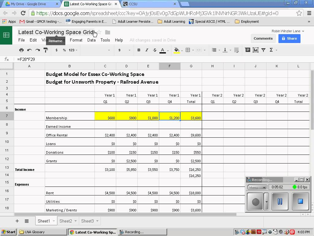 Sharing Excel Spreadsheets
