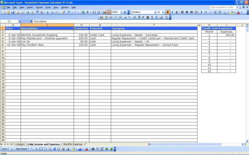 Monthly Budget Template Excel 2010