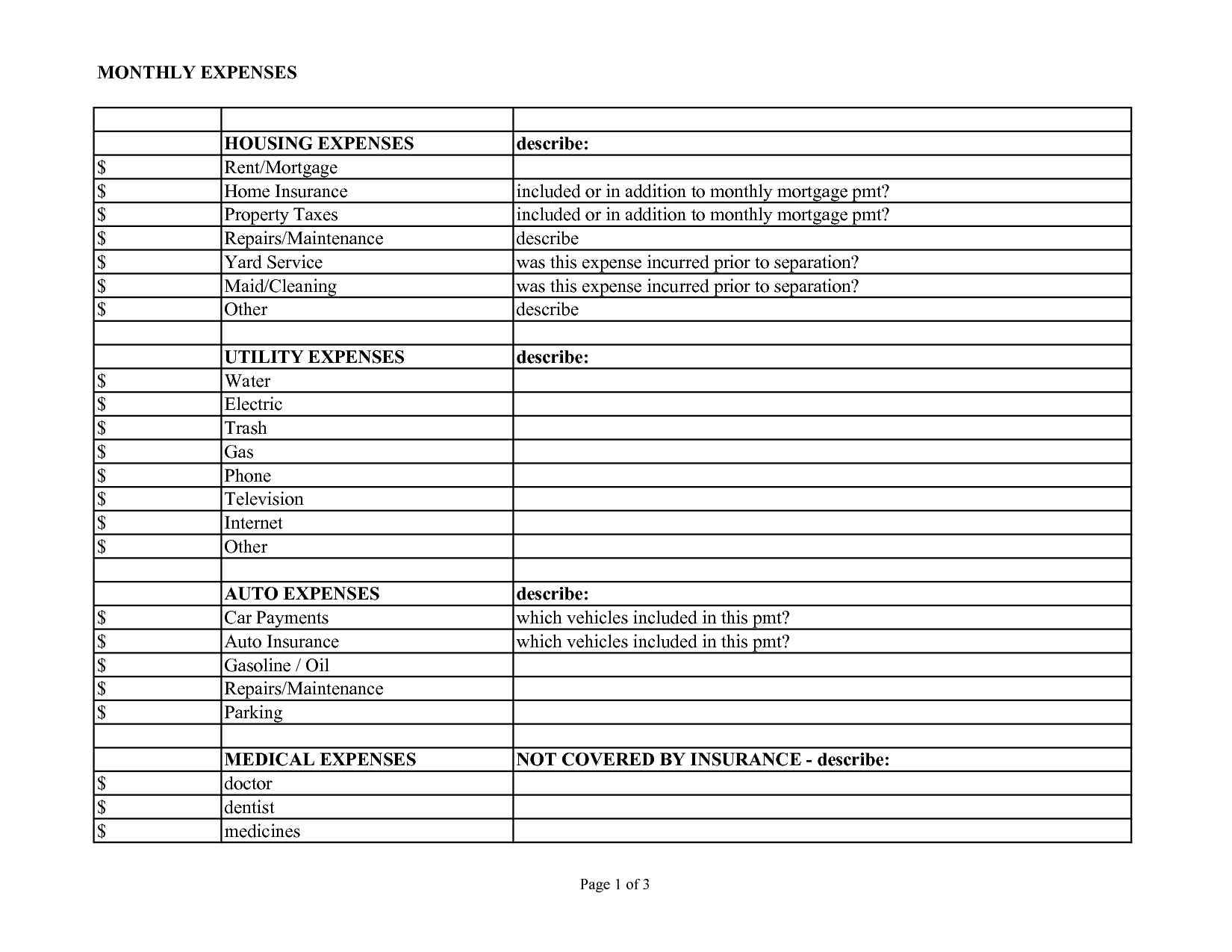 Spreadsheet For Business Expenses And Income or Template For Business Travel Expenses
