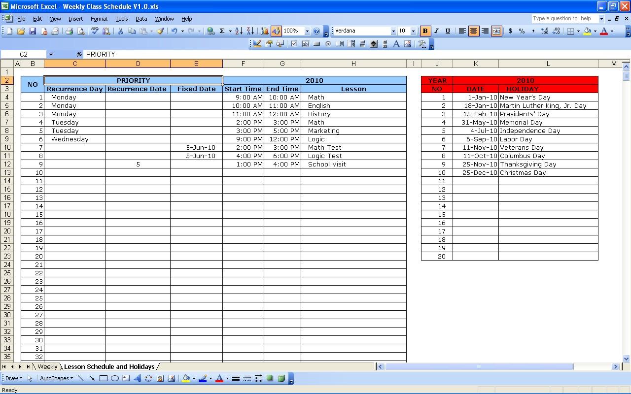 Spreadsheet Lessons