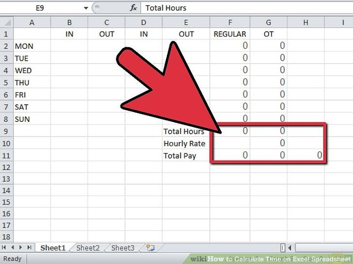 Spreadsheet To Calculate Hours Worked In Excel