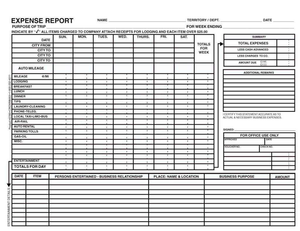 Template For Business Expenses and Daily Expense Excel Sheet Format