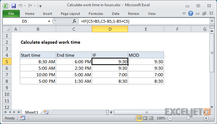 Spreadsheet to calculate hours worked natural buff dog for Template to calculate hours worked