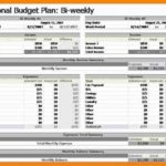 Weekly Budget Example