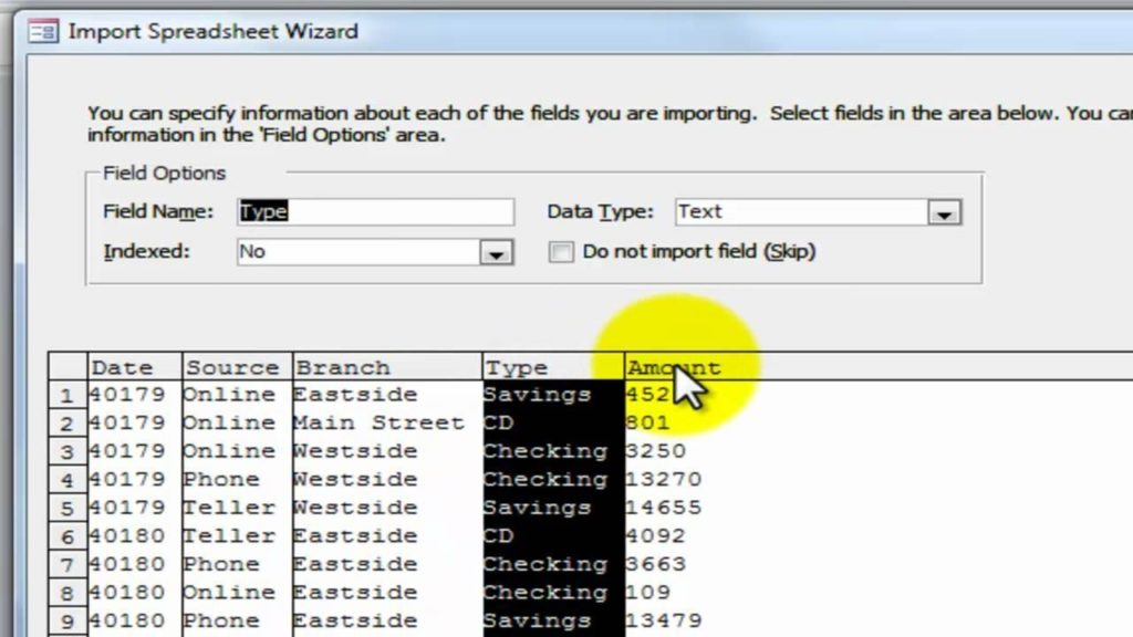 Convert Excel Spreadsheet To Access Database 2010