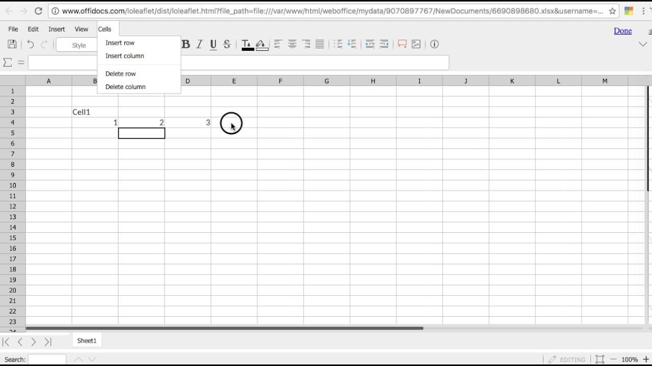 Excel Spreadsheet Editor
