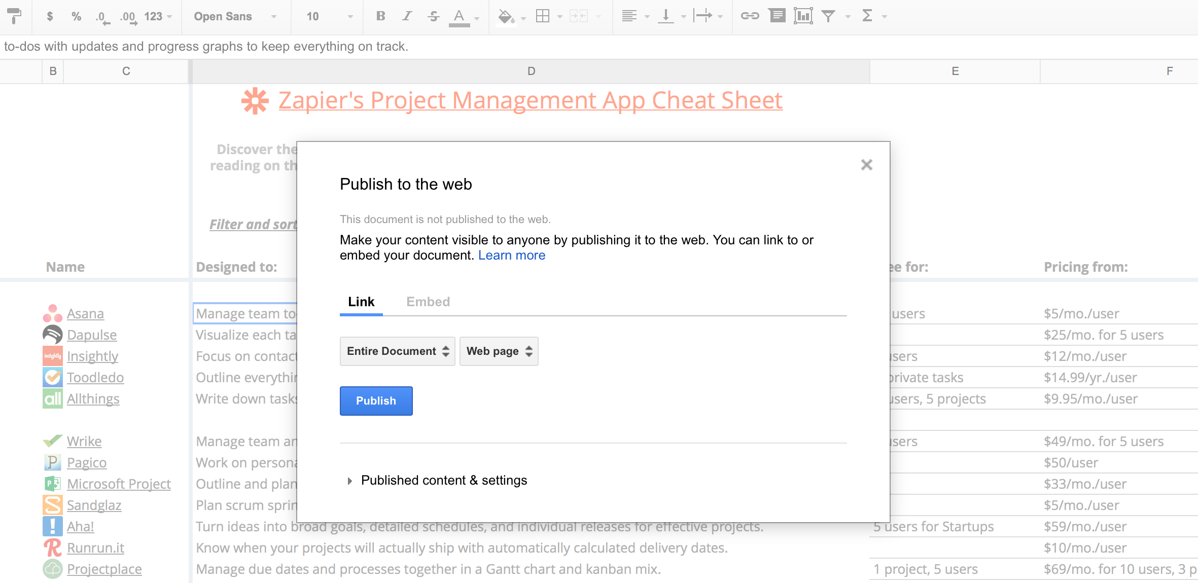 Spreadsheet Editor Ipad