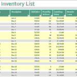 beer inventory spreadsheet free