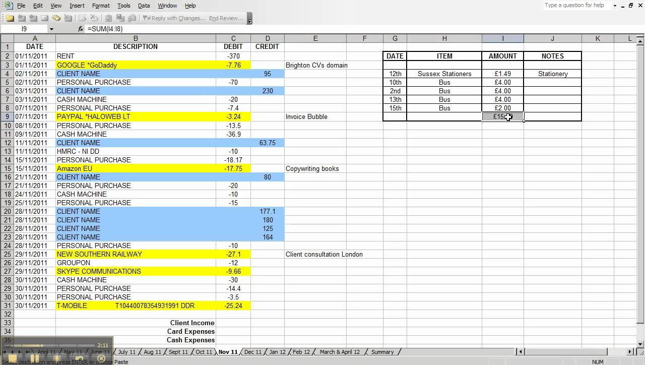 business daily income and expense spreadsheet free