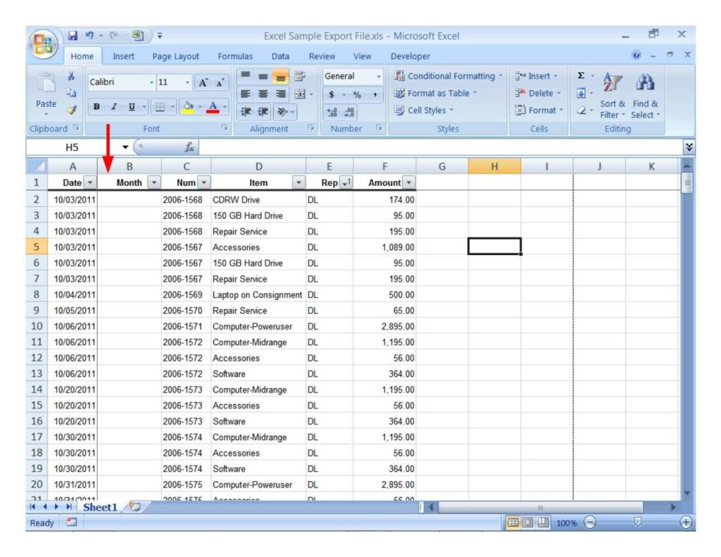 computer inventory sheet excel