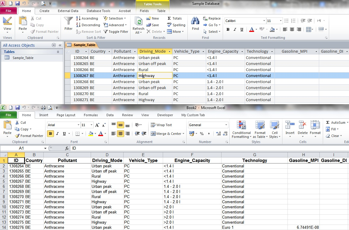 convert excel spreadsheet to access database 2010 free