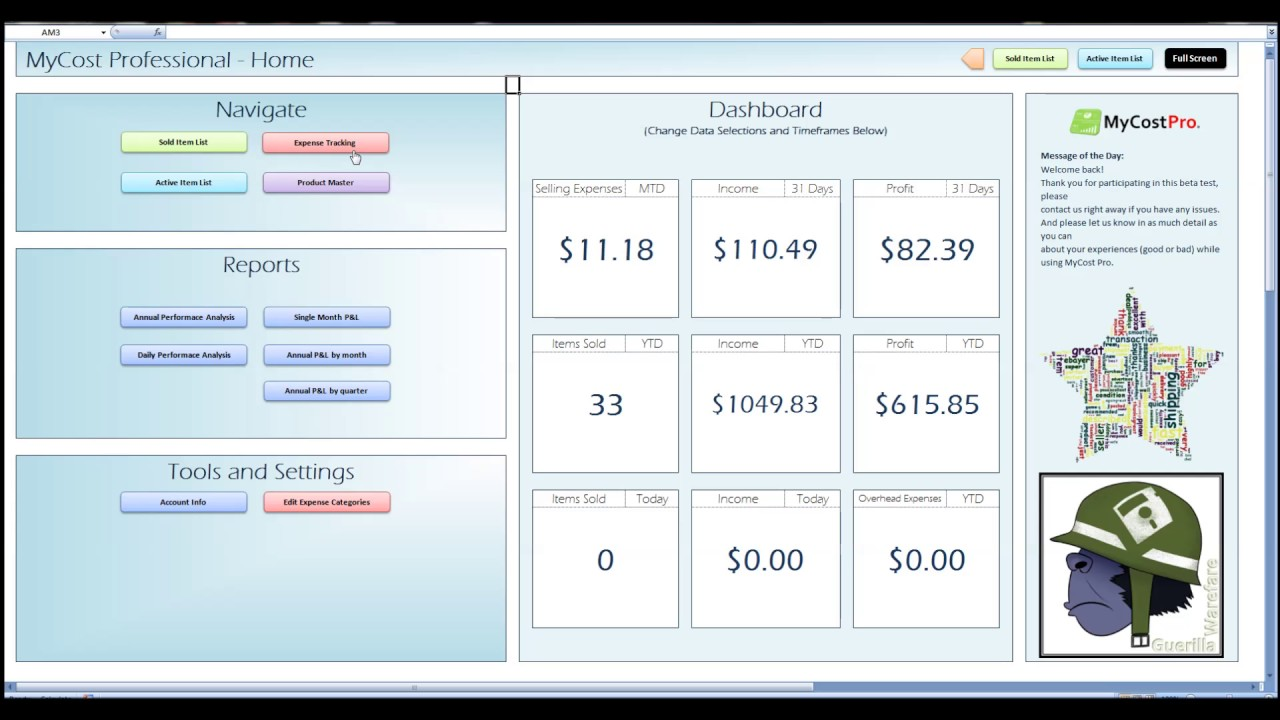 ebay inventory spreadsheet free templates