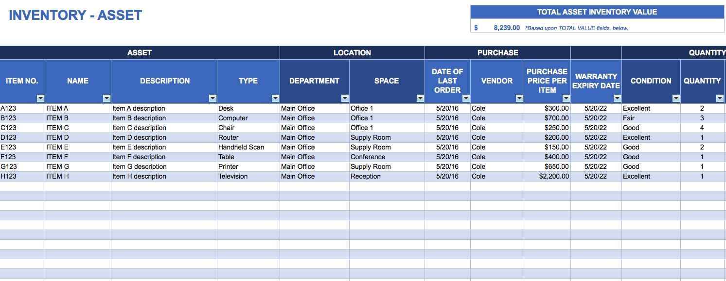 ebay inventory spreadsheet templates free