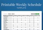 employee schedule maker excel template