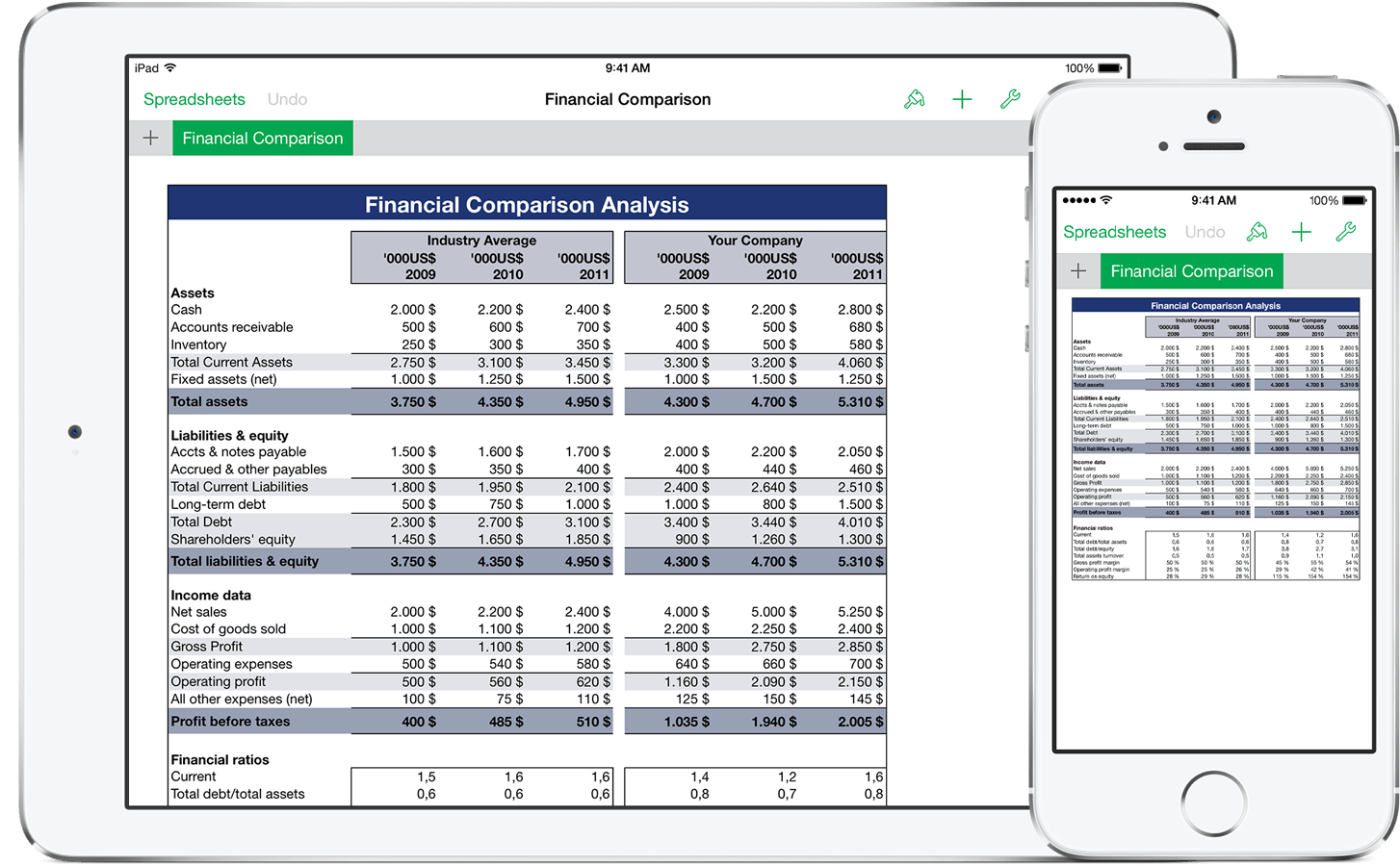 free spreadsheet app for ipad 2
