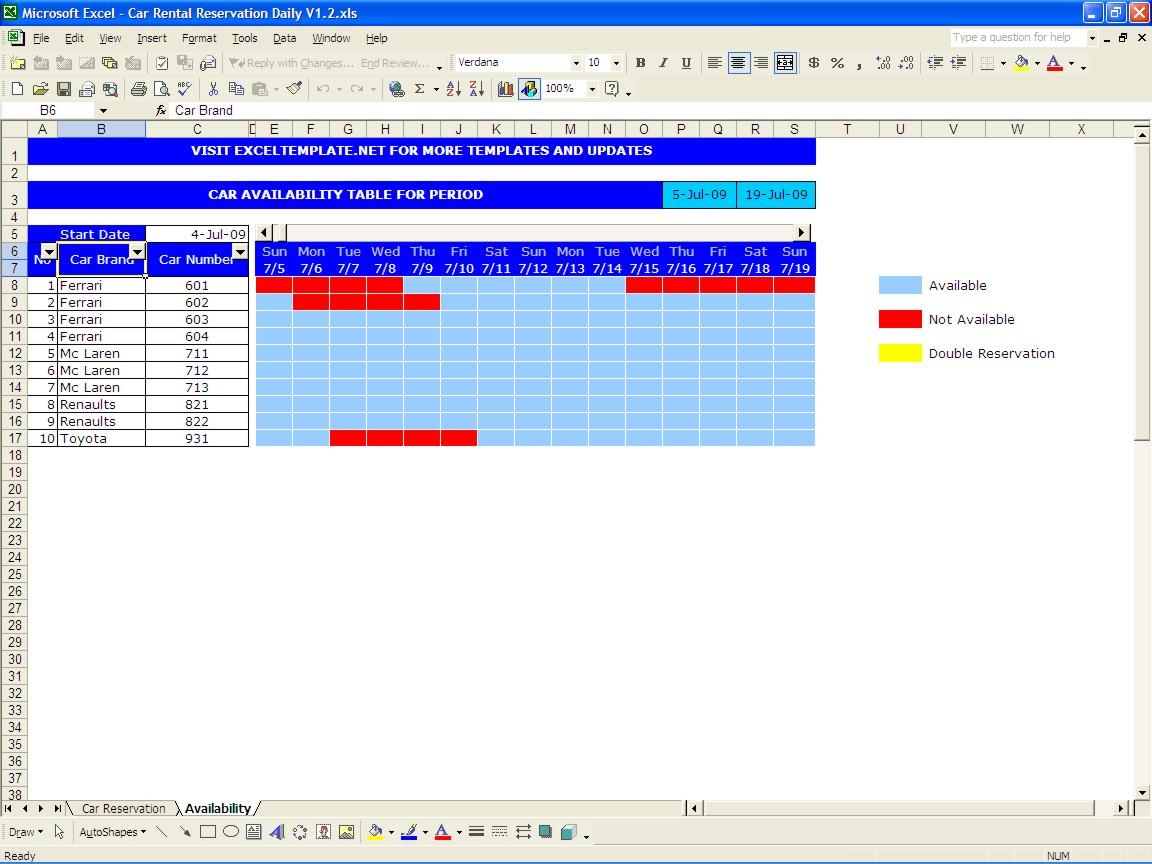 free templates apartment comparison sheet