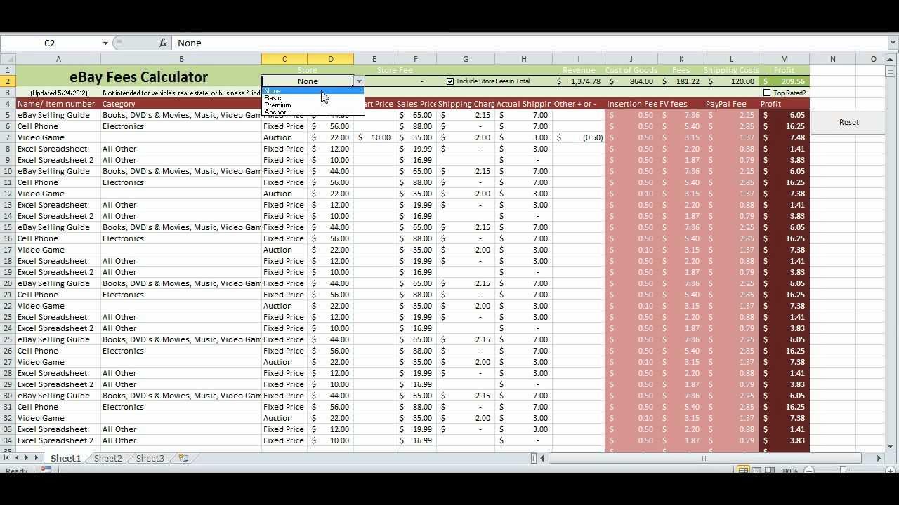free templates ebay inventory spreadsheet