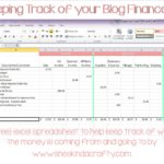 monthly income and expense sheet for business