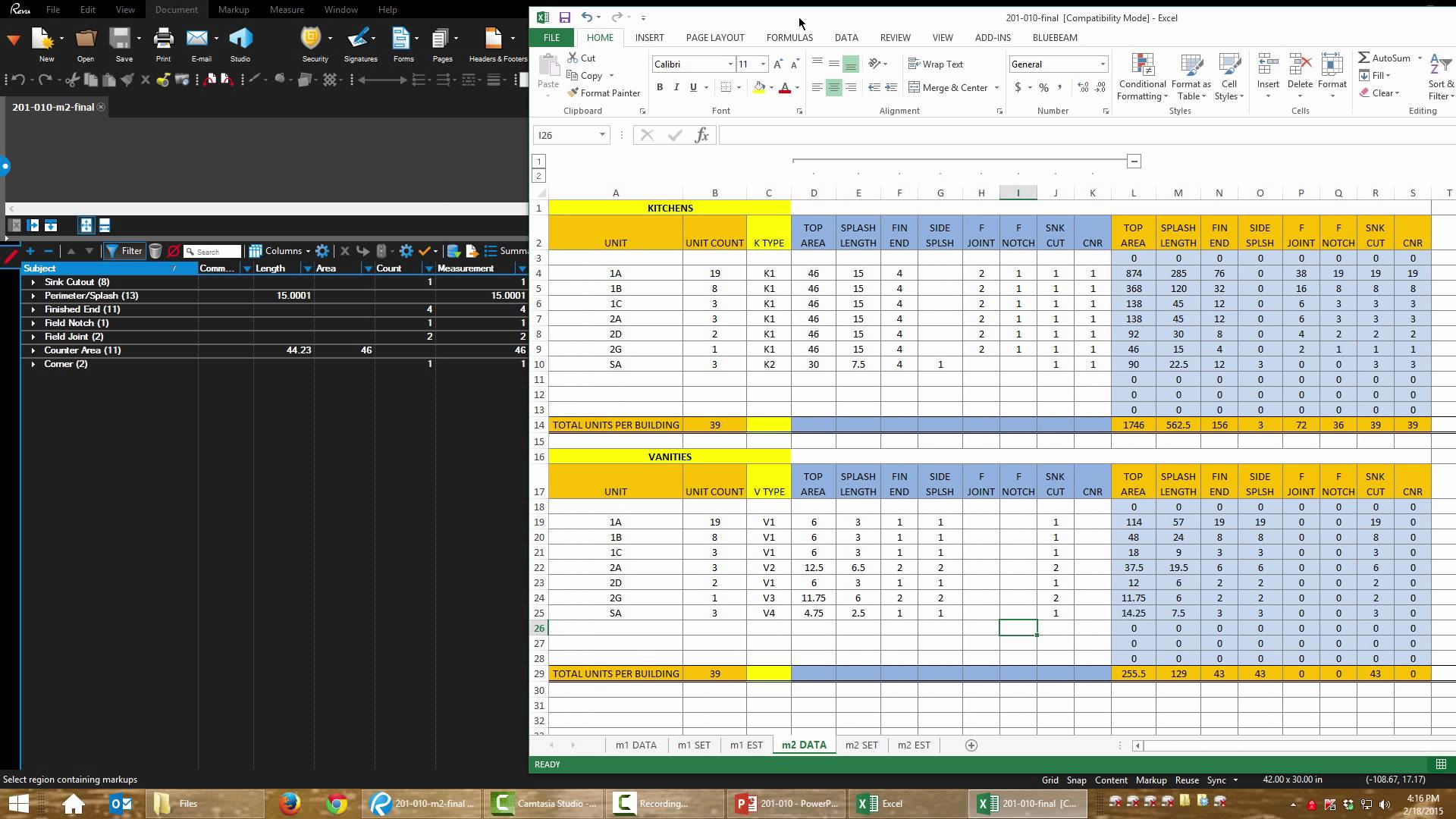templates Construction Take Off Spreadsheets