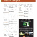 Free Printable Wedding Budget Spreadshee
