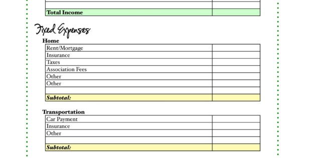 Make Your Own Budget Worksheets : Free tutorial how to make your own budget spreadsheet