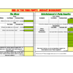 Free download Party Expenses Spreadsheet
