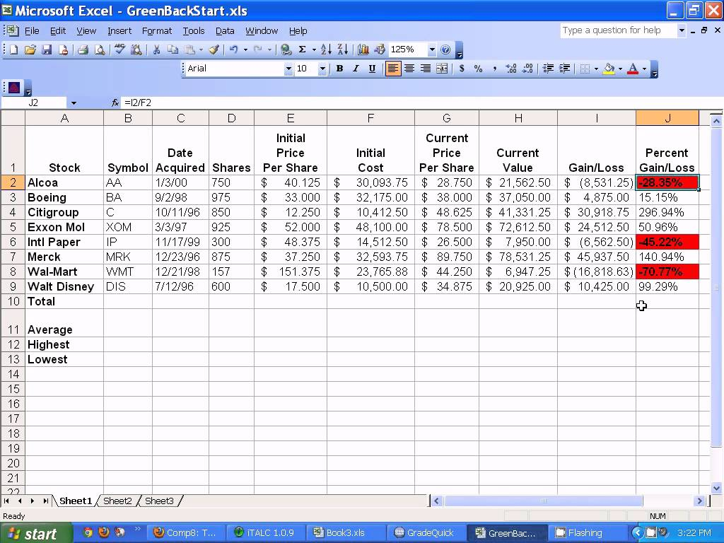 Free investment tracking spreadsheet teplates