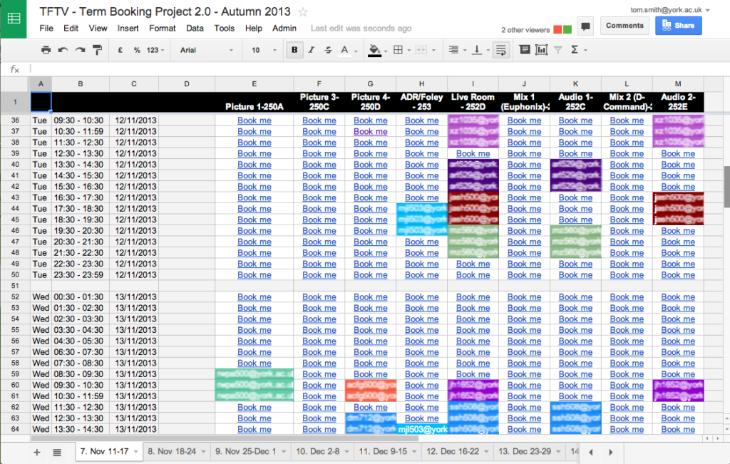how to create a calendar in google spreadsheet
