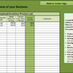 Templates Food Cost Inventory Spreadsheet
