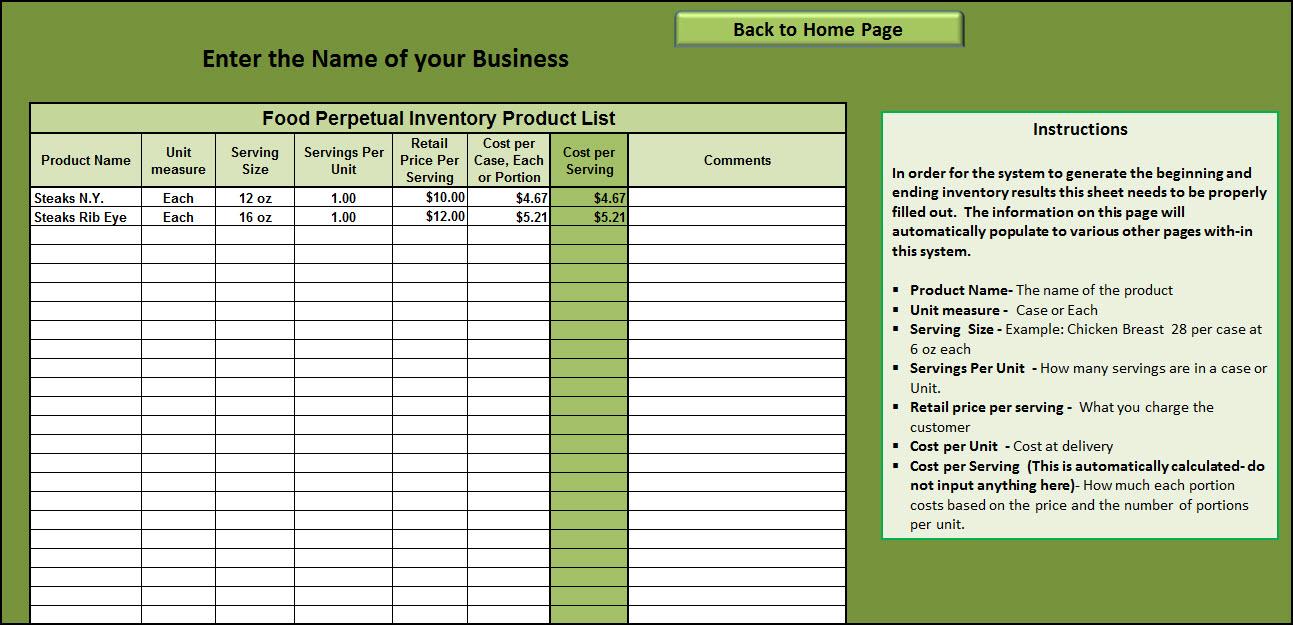 Cost Per Unit Excel Template
