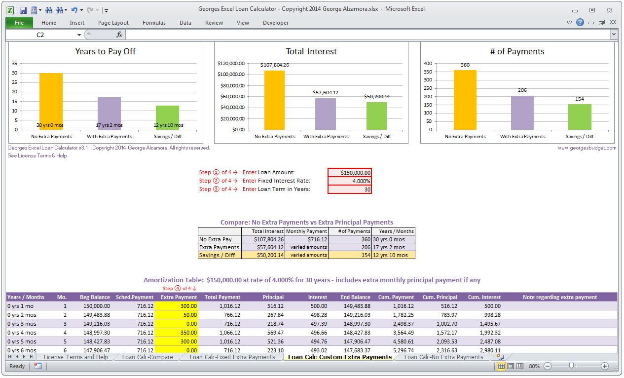 Templates Home Loan Comparison Spreadsheet