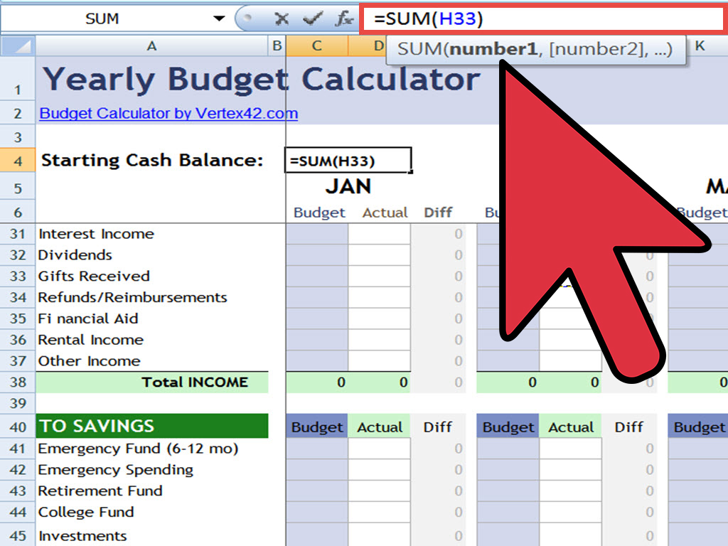 how to create an excel spreadsheet with formulas