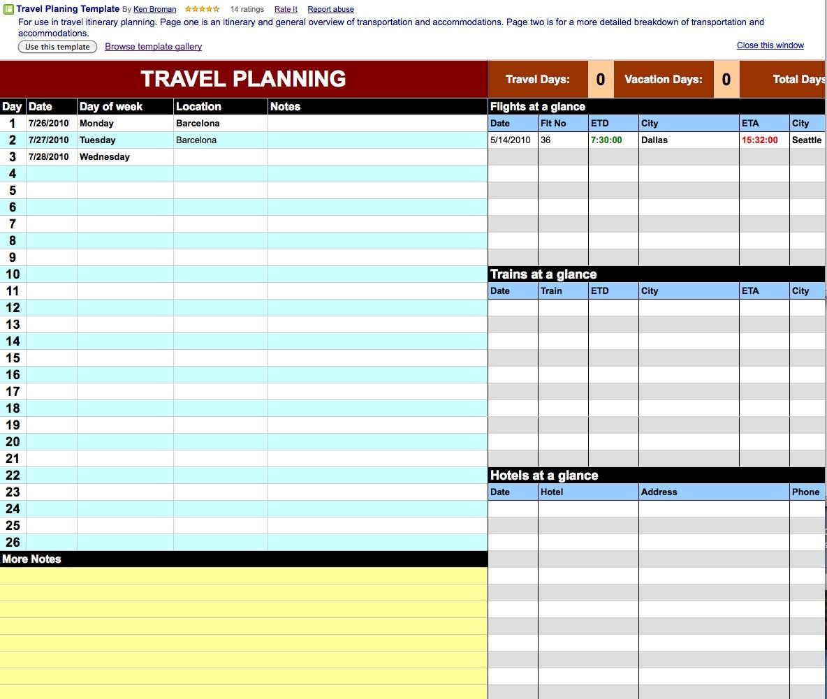free Google Docs Calendar Spreadsheet Template