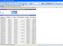 free loan amortization schedules