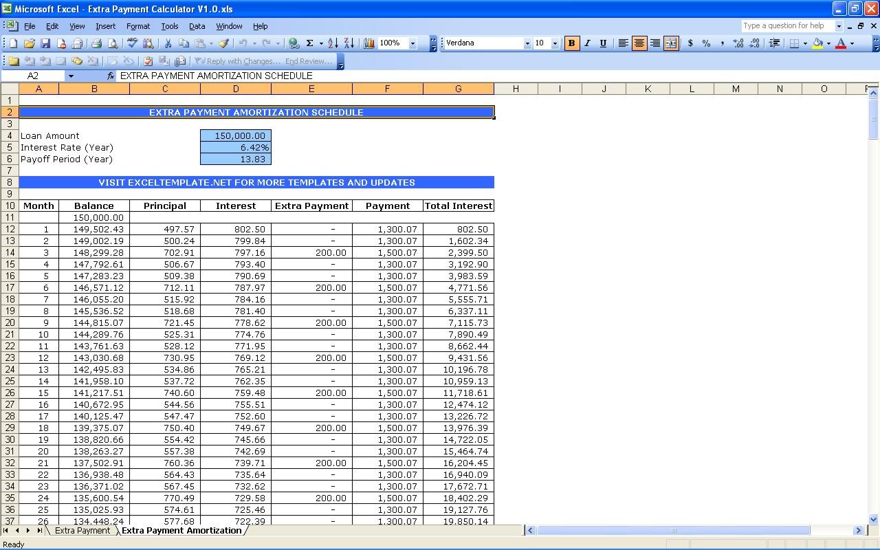 amortization schedules free