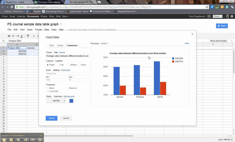 google spreadsheet graphics