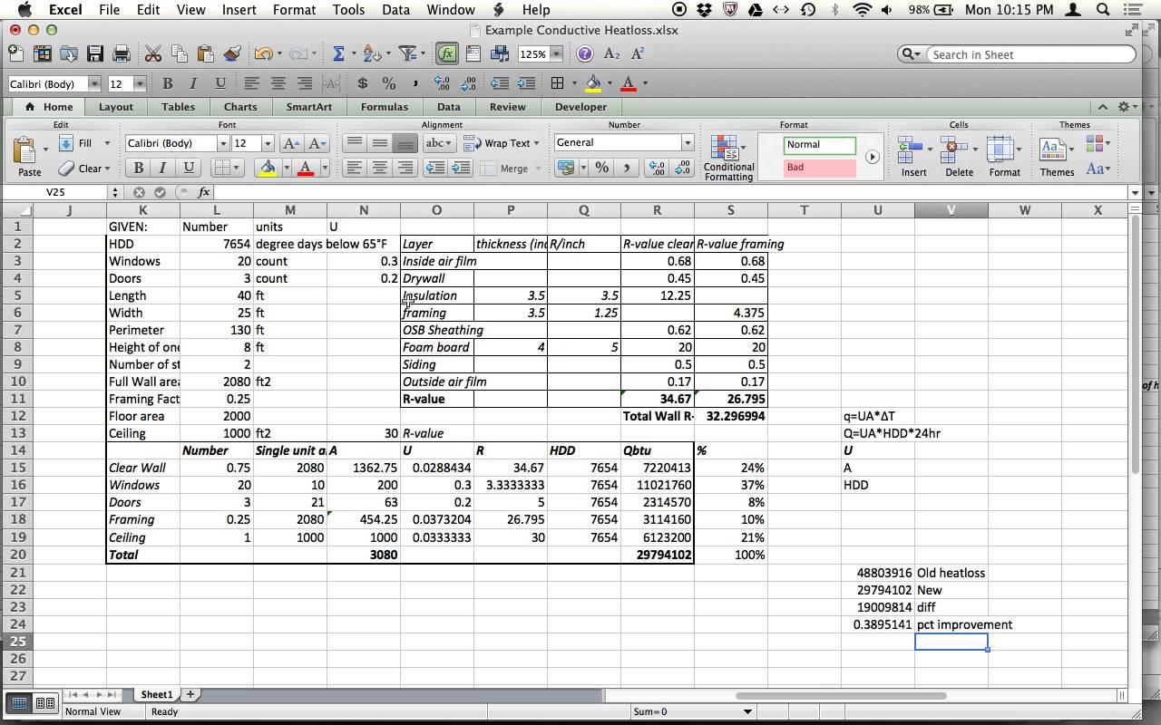 heat load calculation hvac