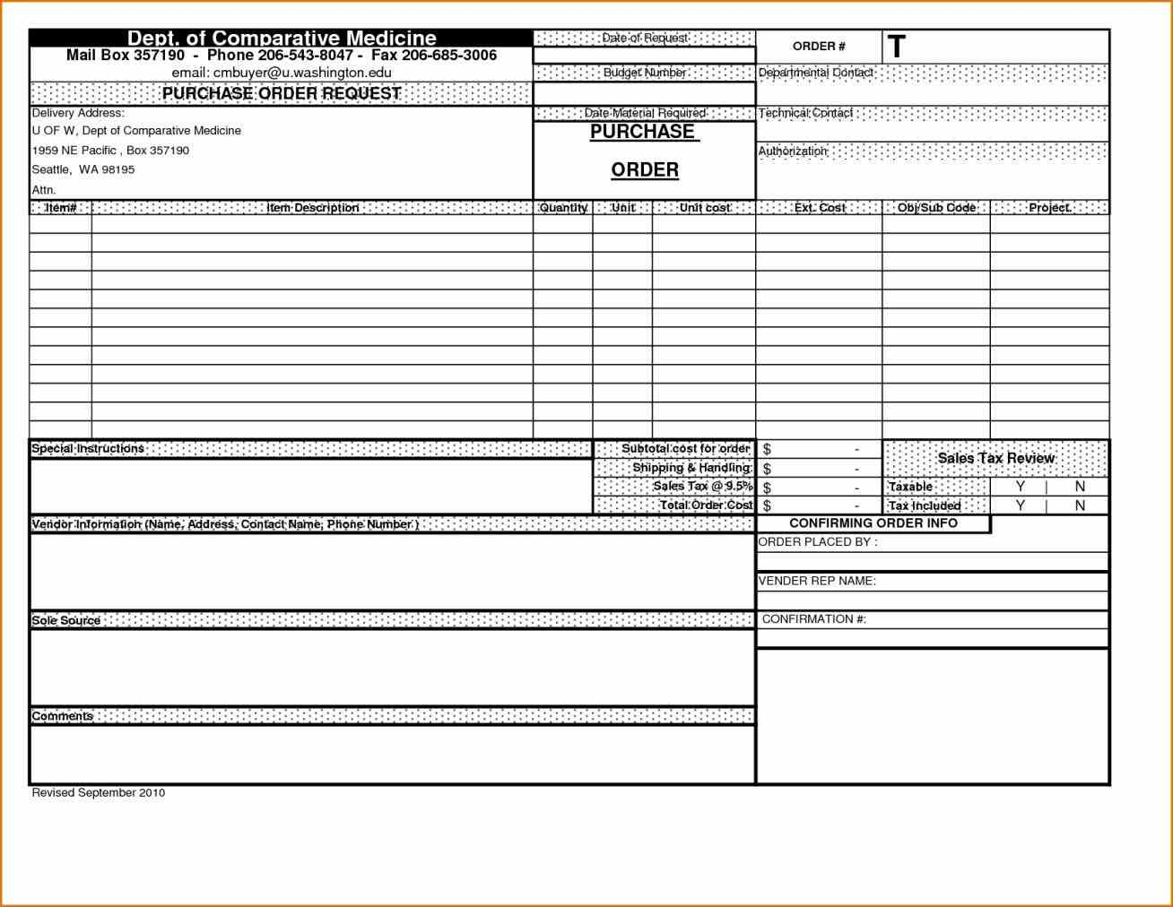 purchase order tracking excel