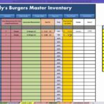restaurant inventory spreadsheet xls