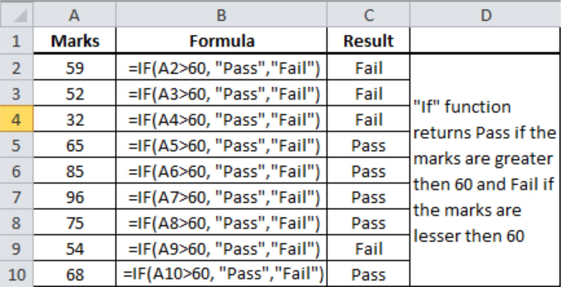 excel if formulas with examples pdf