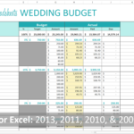 Free wedding cost breakdown spreadsheet