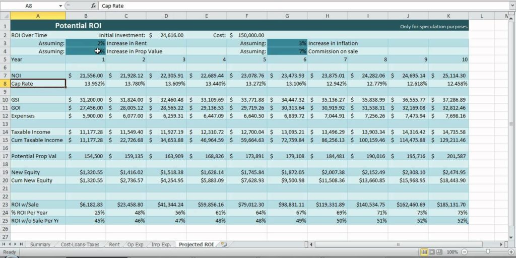 Realtor Expense Tracking Spreadsheet