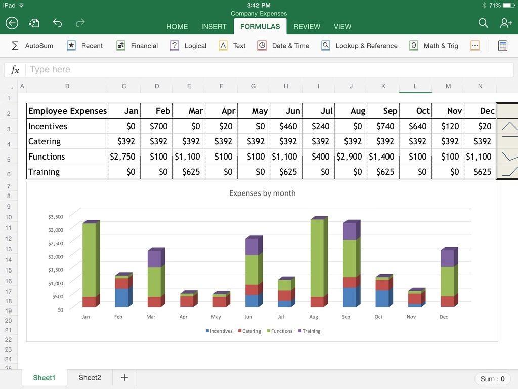 Spreadsheet On Ipad