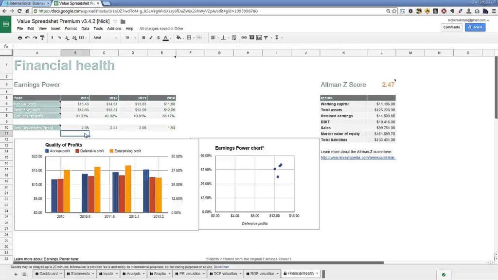 Stock Fundamental Analysis Spreadsheet