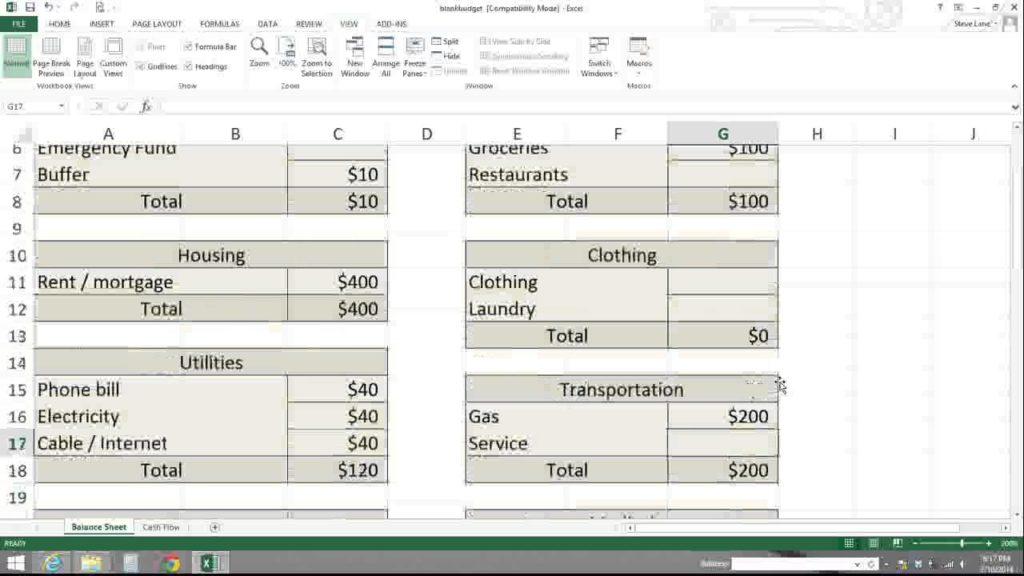 Zero Based Budget Spreadsheet Dave Ramsey