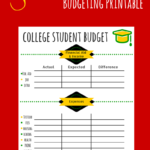 college student budget spreadsheet
