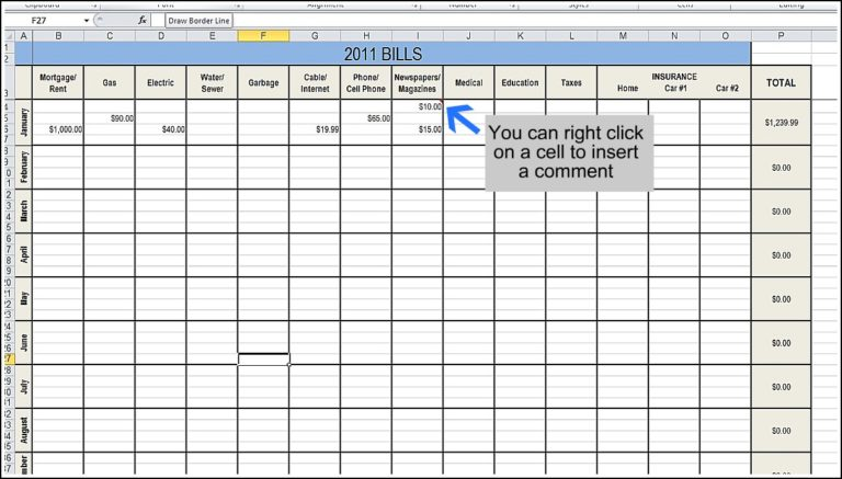 expense sheet excel format