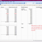 excel spreadsheet for monthly bills