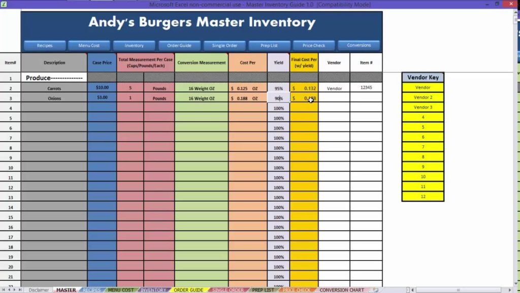 free excel inventory spreadsheet templates